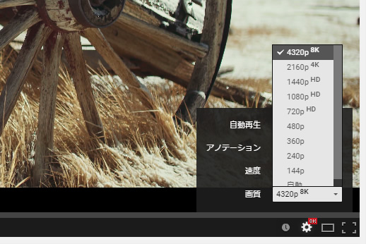youtube 8K動画