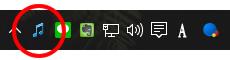 Audio Switcherタスクバー