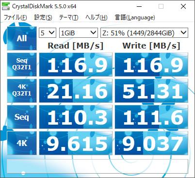 TS-251B速度RAID0