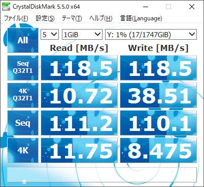 TS-251B速度RAID1