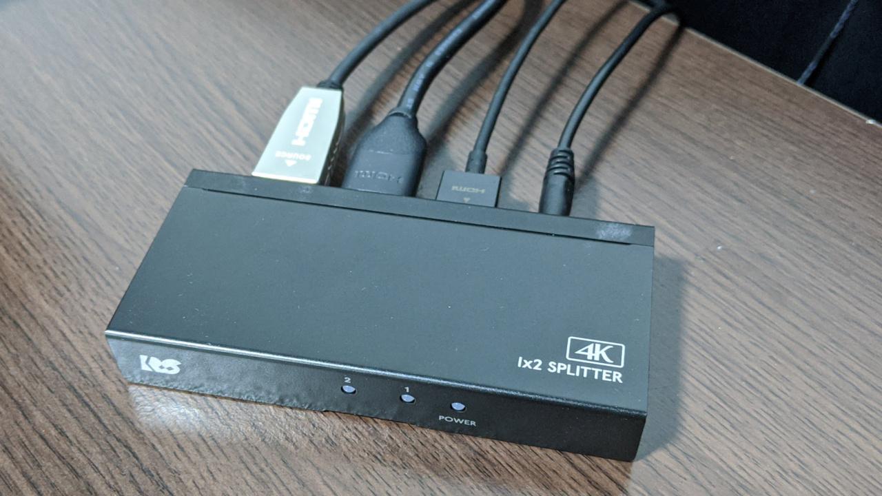 4K/HDR対応HDMI分配器「ラトックシステムRS-HDSP2P-4K」をプロジェクターとモニターを併用するために購入