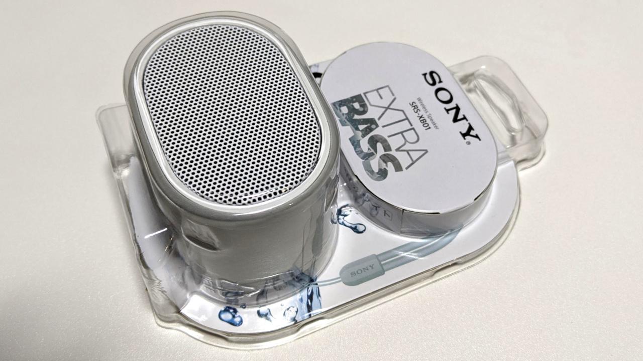 SONYの小型Bluetoothスピーカー「SRS-XB01」を入手。色んな用途に使える便利なスピーカーでした。