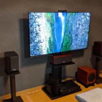 SONYのテレビ「55X9500H」を購入!高画質で大満足!1080p/120Hzも確認!待機電力は微妙…壁寄せスタンドに設置してみた