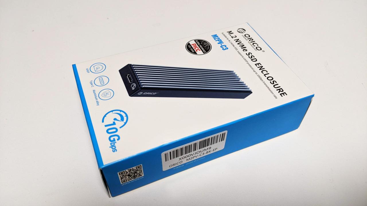 USB 3.1 Gen2のM.2(NVMe)対応外付けSSDケース「ORICO M2PV-BK」を買ってみた。速度は十分だけど付属のケーブルが粗悪品…